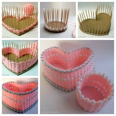 how to make home decor items wonderful diy lovely yarn busket from carboard