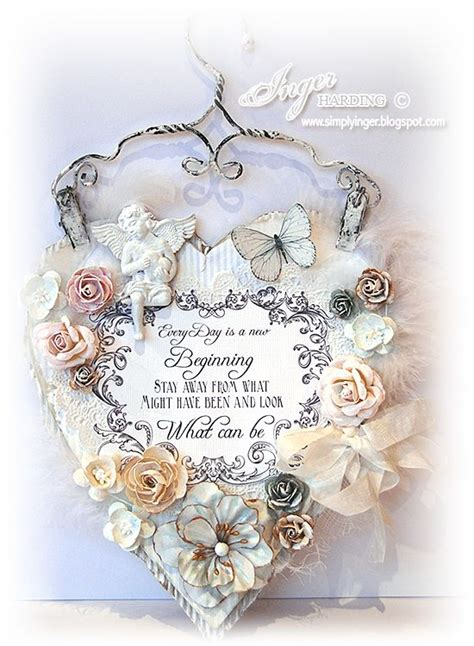 shabby chic wall hanging crafty bits grab a cuppa and