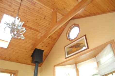 tongue in groove pine ceiling for where we are vaulting