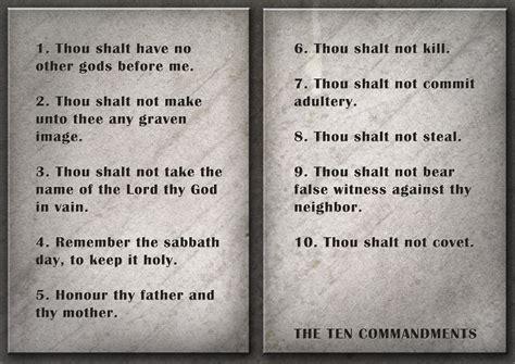 The Ten Commandments 10 commandments of god
