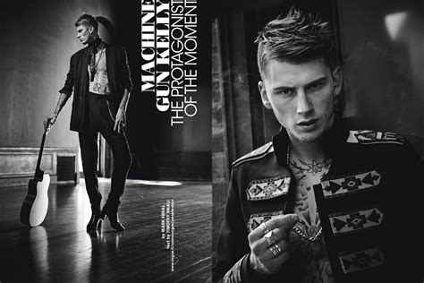 machine gun kelly the protagonist of the moment vogue it