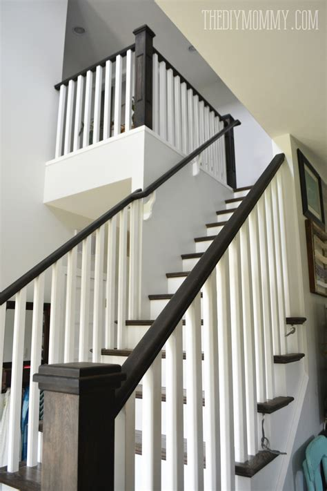 best paint for stair banisters ebony stain and white craftsman stair railings i love