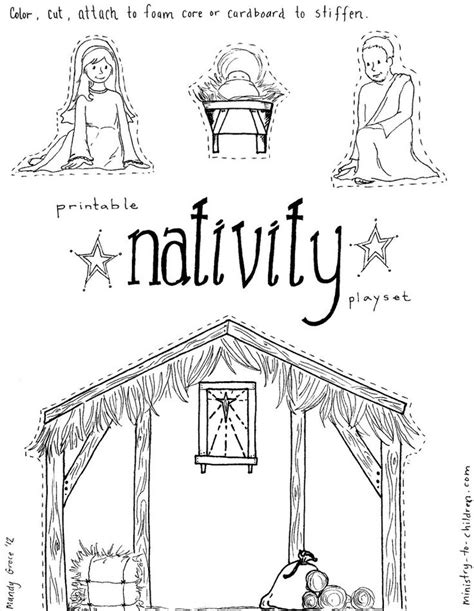 coloring pages jesus in the manger 17 best images about simple nativity crafts for on