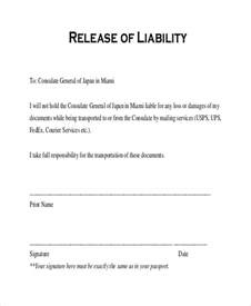 release waiver template doc 400518 liability agreement sle release of