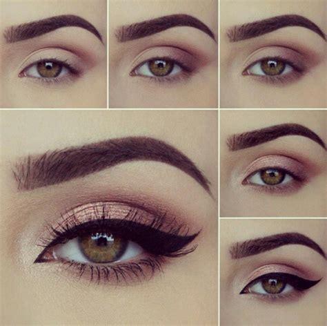 imagenes ojos grandes 8 pasos para maquillaje de ojos marrones maquillaje de