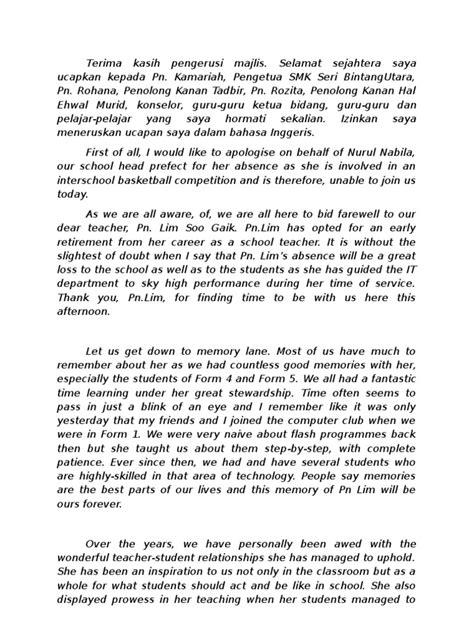 High School Farewell Speech Sle farewell speech