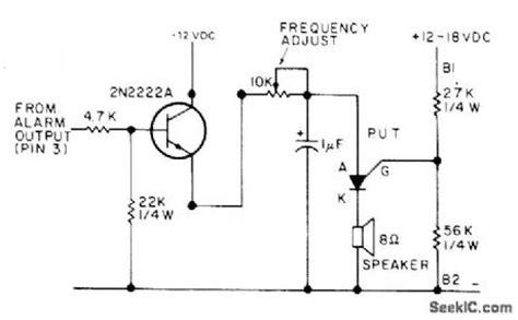 transistor put alarm for digital clock alarm control control circuit circuit diagram seekic