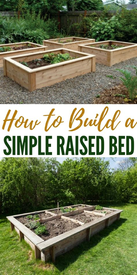 how to build a raised bed how to build a simple raised bed