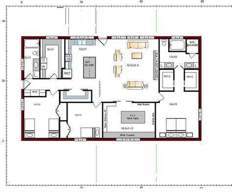30x60 house floor plans floor plans for the barndominium fort reno rd