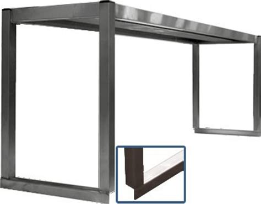etagere en inox pour cuisine etag 232 res sur colonnettes 1 niveau inox ferritique 1200x300x400 mm materiels cuisine