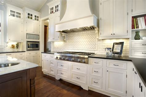 Subway Tile Backsplash For Kitchen Herringbone Kitchen Backsplash Design Ideas