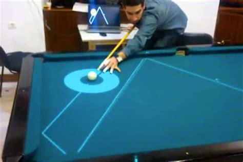 Tas Billiard Custom high tech pool table uses frickin laser beams to make
