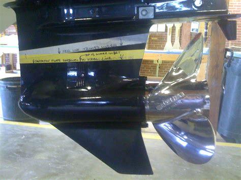 cavitatieplaat buitenboordmotor catamaran cavitation plate height w pics the hull