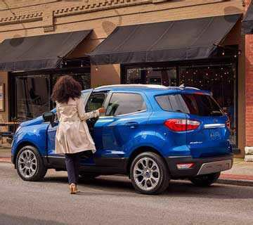 2018 ford® ecosport compact suv   compact features, big