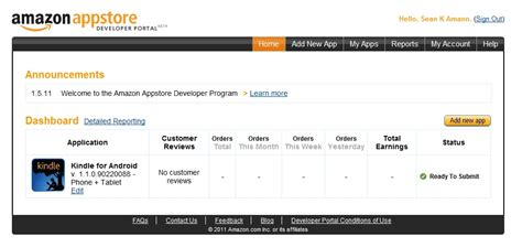 amazon developer amazon doing android app store launches developer portal