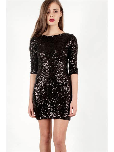 Dress Sequen black sequin dress dressed up