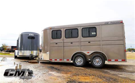 the trailer cm trailers all aluminum steel livestock cargo