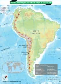 map of south america andes mountains what is the mountain range in the world answers