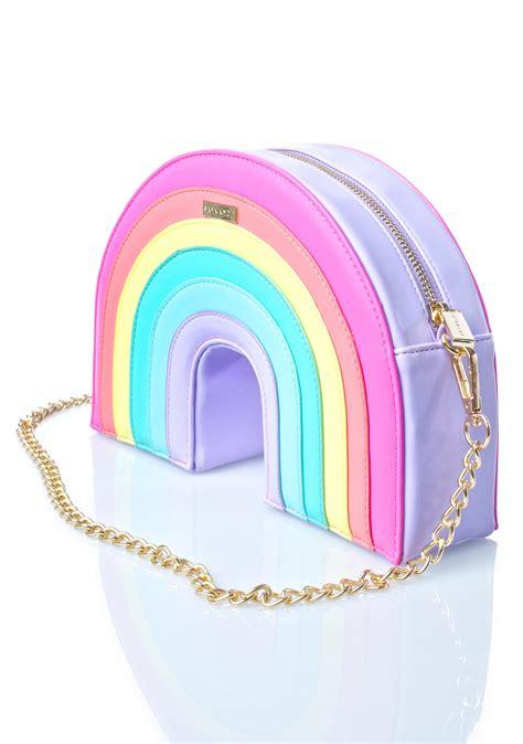 Features Bag Wishlist by Skinnydip Rainbow Cross Bag Dolls Kill