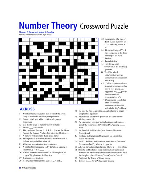 printable crossword puzzles middle school 6 best images of middle school math puzzles printable