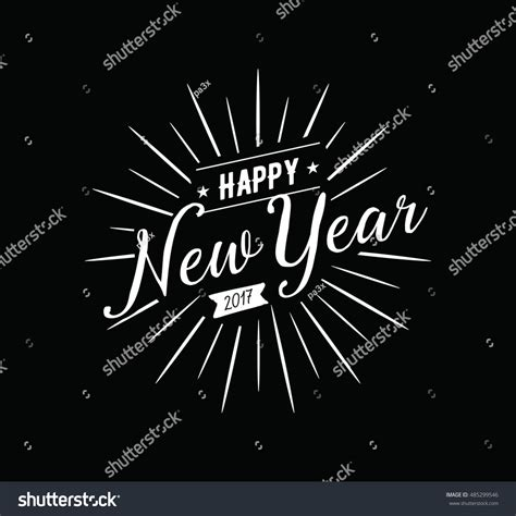 happy new year from design happy new year 2017 text design stock vector 485299546