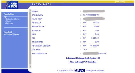 Bca Token Bank cara membeli pulsa listrik prabayar melalui banking bca 171 jaranguda