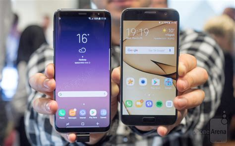 Samsung S7 Vs S8 samsung galaxy s8 vs galaxy s7 comparison and differences phonearena reviews