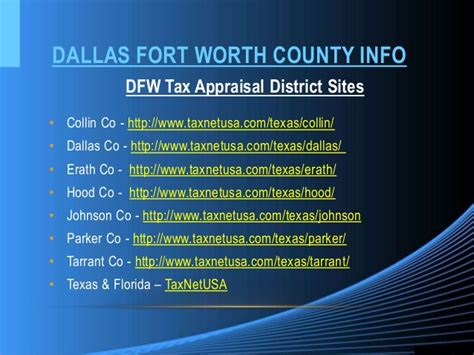Tarrant County Records Real Property Fort Worth Appraisal District Search Property Pdf