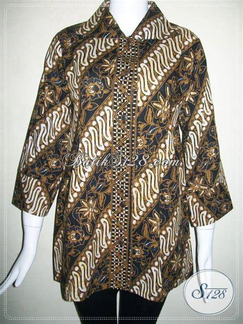Atasan Jawa Shanghai baju batik wanita kombinasi tulis halus blus batik kerja wanita pejabat bls514ct toko batik