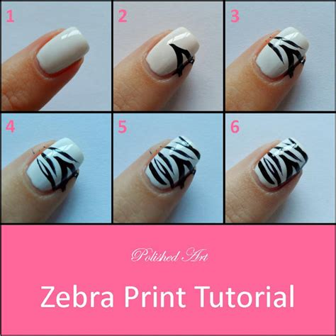 easy nail art print tutorial unhas de zebra
