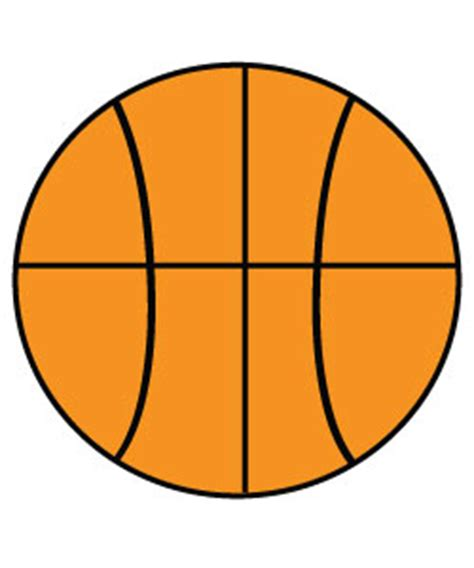 free basketball clipart to use for party decor craft