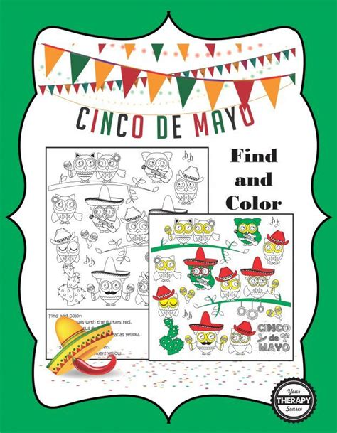 cinco de mayo colors find and color cinco de mayo from your therapy source