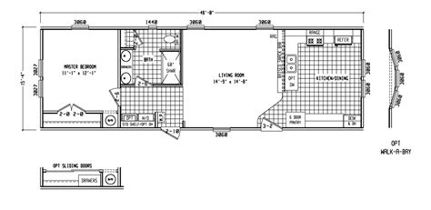 one bedroom mobile home floor plans 1 bedroom mobile homes floor plans 500 to 799 sq ft