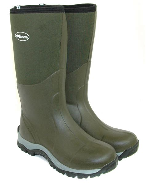 muck boots bison 10mm winter neoprene wellington muck boot bison