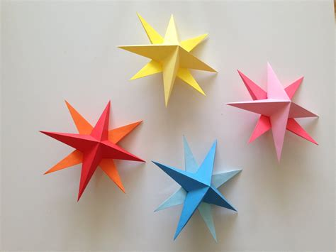Origami Starts - how to make simple 3d origami paper cards