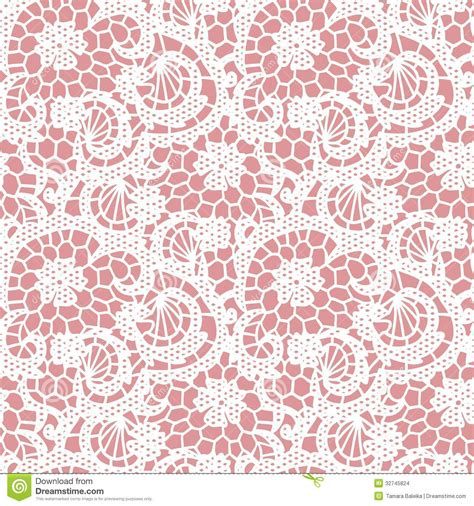 seamless pattern pink free lace seamless pattern with flowers stock vector