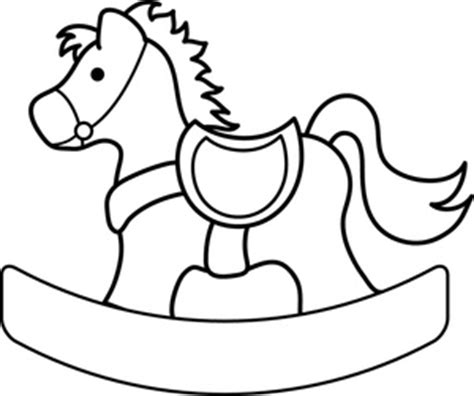 coloring page of a rocking horse free rocking horse clipart image 0515 1004 0904 3202