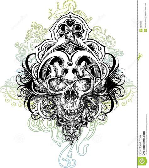 skull warrior illustration royalty free stock photos