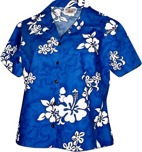 White Hawaiian Shirt by White Hibiscus Hawaiian Shirts Blue