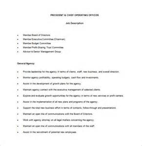 Coo Description by Chief Operating Officer Description Template 7 Free Word Pdf Format Free