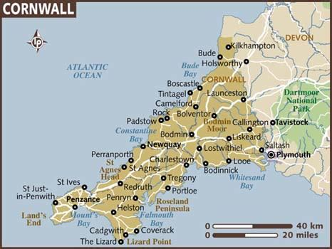 cornwall map cornwall captivates me about travel