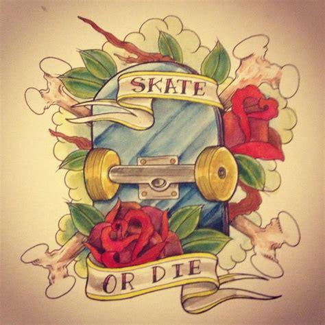 14 tatuagens tema skate para fazer tattoo sk8 or die e