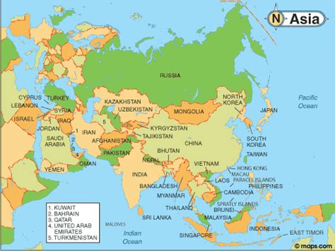Where Is Asia On The Map by Map Of Asia With Facts Statistics And History