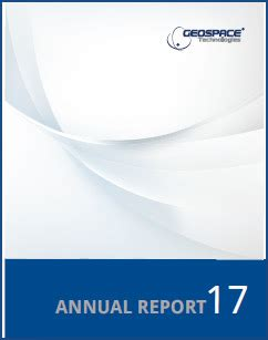 geospace technologies annual financial reports and proxy