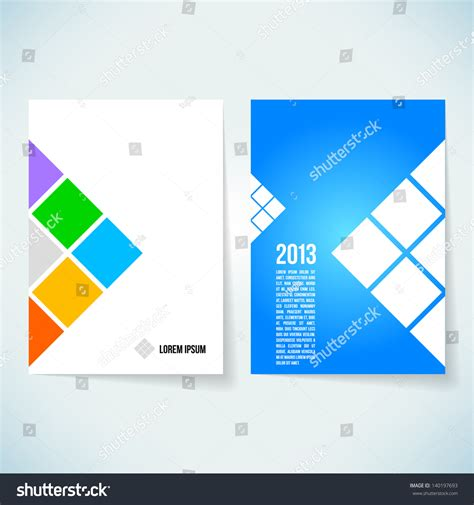 brochure layout design template vector brochure cover design vector template stock vector