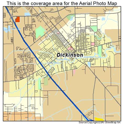 dickinson texas map aerial photography map of dickinson tx texas