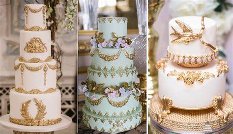 top 20 luxury vintage baroque wedding cakes roses rings