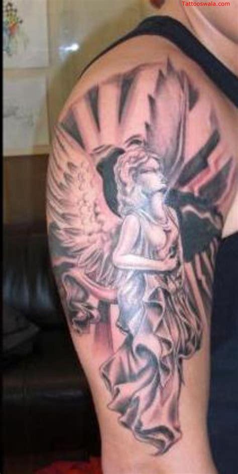 tattoo on right shoulder 65 angel tattoos for men shoulder