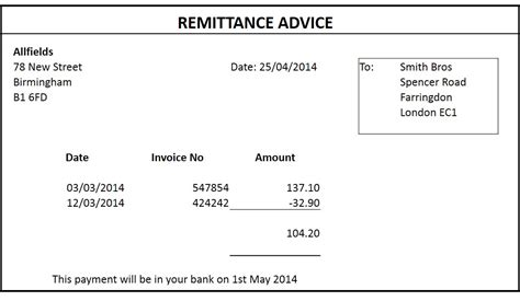 myob invoice template remittance advice template free top 5 free