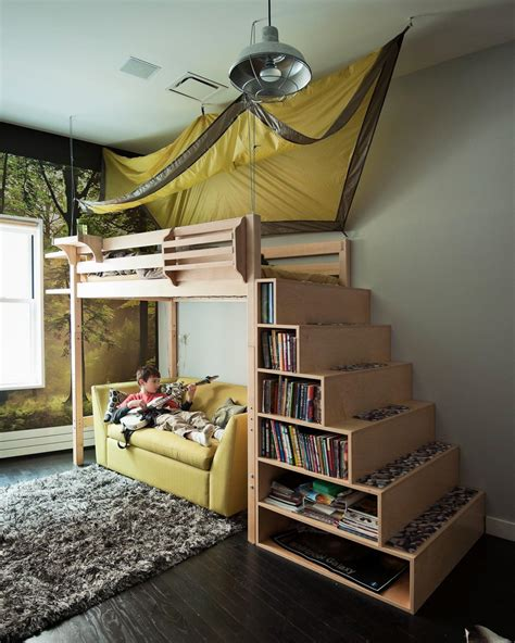 Bunk Beds With Side Stairs Photos Hgtv Bunk Bed Staircase Bookcase Clipgoo